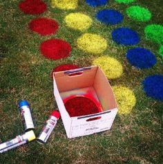 #HLo-Tips: Twister es un juego fácil de realizar para niños usando el jardín para las fiestas infantiles.