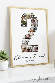 Anniversary Gift Ideas Customized for the spcecial day with your loved ones. Personalized photo collage full of memories. #julyloveprints #giftideas #walldecor #roomdecor #anniversaryideas
