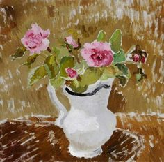 """Roses in a White Jug"" by Christopher Wood, 1928"