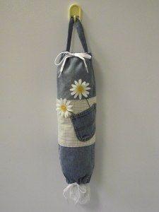 DENIM PLASTIC BAG HOLDER   New Life, New Purpose