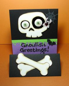Ghoulish Greetings (card opened) by Cindy H. - Cards and Paper Crafts at Splitcoaststampers