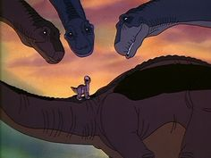 The Land Before Time (1988)   There are like 15 of these and I was obsessed.