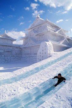 snowcastle in Sapporo, Japan