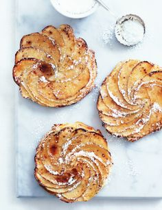 Buttery Brioche Apple Tarts. #food #apples #tarts #autumn