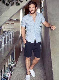 Camisa manga curta e bermuda
