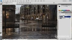 Postproduction of scene in Adobe Photoshop - Tip of the Week. In this tutorial, Michal Horba from Evermotion will guide you through post. Photoshop Plugins, Photoshop Tutorial, Photoshop Actions, Adobe Photoshop, Photoshop Effects, Photoshop For Photographers, Photoshop Photography, Autocad, Ps Tutorials