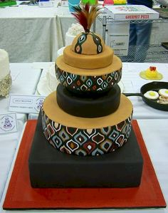 60 Beautiful African Wedding Cake You Will Love for Your Inspirations - VIs-Wed Beautiful Wedding Cakes, Beautiful Cakes, Amazing Cakes, Traditional Wedding Cakes, Traditional Cakes, Themed Wedding Cakes, Themed Cakes, African Wedding Cakes, African Weddings
