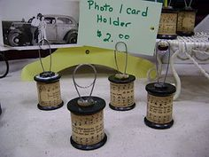 Wooden Spools Project ... http://shabbygardencreations.blogspot.com/2010/11/wooden-spools-project-revealed.html#
