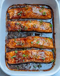 A perfectly flaky and tender salmon recipe thats made with an easy homemade teriyaki sauce and baked to perfection. Makes for a perfect lunch or dinner recipe that can be ready in less than minutes. Healthy Salmon Recipes, Easy Fish Recipes, Seafood Recipes, Cooking Recipes, Dinner Recipes, Baked Teriyaki Salmon, Teriyaki Sauce, Soy Sauce, Salmon Dishes