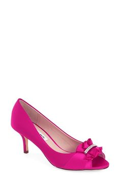 Nina 'Carinne' Peep Toe Pump (Women) available at #Nordstrom