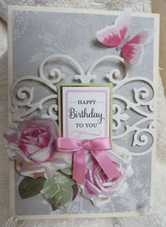 Made This Card Using Some Anna Griffin Flocked Paper, Garden Window Card  Kit, Perfect