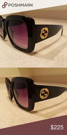 191dd5856ea Brand New Black Gucci Sunglasses Never worn