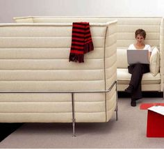 Privacy Sofas for Offices - Alcove Highback Business Seating (GALLERY)