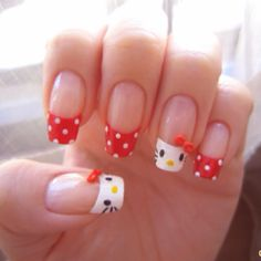 #hairandbeauty hello kitty nails!