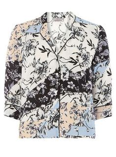 Dorothy Perkins Womens Petite Floral Print Shirt- Fl Multi Petite floral print pj shirt, wearing length approx 60cm. 100% Viscose. Machine washable. http://www.MightGet.com/january-2017-13/dorothy-perkins-womens-petite-floral-print-shirt-fl-multi.asp
