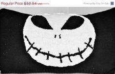 SALE RYLO nightmare before Christmas inspired Jack throw pillow by RYLOwear, $29.65
