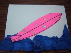 Summer camp on pinterest surfboard craft parachute for Surfboard craft for kids