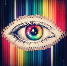 Circulo cromatico ojo
