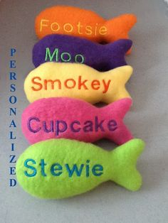 Cats Toys Ideas - Personalized Cat Toy with Catnip 1 by crochetkittycattoys on Etsy, $10.00 - Ideal toys for small cats