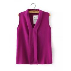Blusas Femininas 2015 New Fashion Women's Colourful V Neck Summer Chiffon Blouses Cute Sleeveless Shirts Casual Slim Brand Tops(China (Mainland)) Chiffon Shirt, Chiffon Tops, Chiffon Blouses, Sleeveless Tops, Dandy Look, Summer Blouses, Grace Kelly, Casual Tops, Shirt Blouses