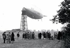 R101 at mooring mast in Cardington.