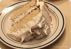 Supreme Delight Maple Cake with Meringue Ice Cream - Jasmine Cuisine Healthy Dessert Recipes, Easy Desserts, Delicious Desserts, Cake Recipes, Nutella Chocolate Chip Cookies, Chocolate Desserts, Maple Cake, Glaze For Cake, Bon Dessert