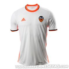 uniforme local Adidas Valencia 2016-17 Top Soccer 6c6af220919