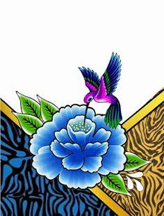 Eu que fiz e Daí: imagens para adesivos-beija-flor
