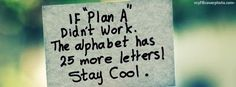 Stay Cool Quote Facebook Cover