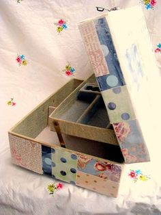 What You Make of It - Dime Store Chic - Paper Patchwork Jewelry Box