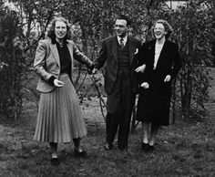 Sir Nicholas Winton and his wife Grete (left) in 1948 and mother Barbara on right.