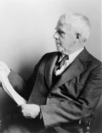 """A poem begins as a lump in the throat, a sense of wrong, a homesickness, a lovesickness.""  — Robert Frost"