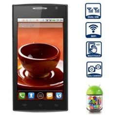 This phone will work with Network frequency: GSM 850/900/1800/1900MHz   Main Features: Type: Touch screen phone  Color: White OS: Android 4.1 CPU: MT6517 Dual Core 1.2GHz GPU: PowerVR SGX531 ROM: 512MB  RAM: 128MB  With 8GB TF Card  Capacitive touch (5-points) screen  Network frequenc... Click on Picture to go to Store