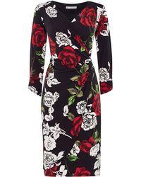 Shubette | Rose Print Jersey Dress | Lyst