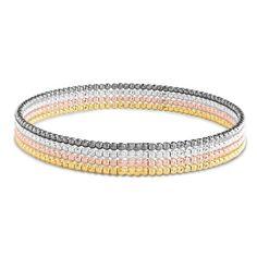Sterling Silver 4 piece Slip on Bangle Bracelets