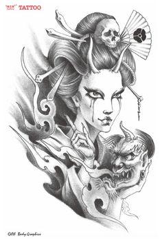 Ge-Yifei-tattoo-stickers-stickers-flower-geisha-tattoo-arm-tattoo-Japanese-female-flower-arm-tattoo-stickers.jpg (430×638)