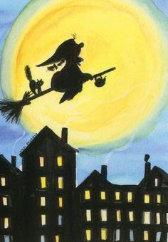 Halloween Images, Happy Halloween, Halloween Witches, Childhood Fears, Epiphany, Christmas Pictures, Cute Illustration, Superhero Logos, Childrens Books