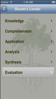 Blooms Taxonomy app (for iPhone and iPad) by @Ms_Fossum