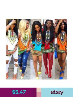 Women African Dashiki Shirt Kaftan Boho Hippe Gypsy Festival Tops Party  Dress - - Fashionable Muslim Clothing for All Women  . 0301404e7