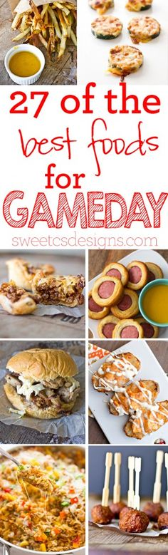 27 Of The Best Gameday Foods- rock the big game party with these delicious and easy showstopper recipes!