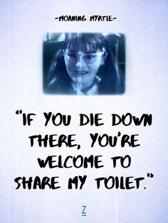 """If you die down there, you're welcome to share my toilet."""