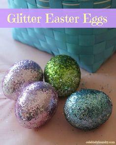 Glitter Easter Eggs #EasterEgg #Craft