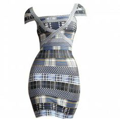 $69.41 Charming Boat Neck Striped Color Block Short Sleeves Bodycon Bandage Dress For Women