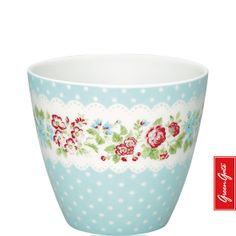 Greengate latte cup Ivy pale blue