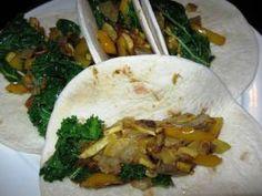 Squash Kale Wraps