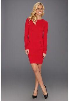 BCBGMAXAZRIA - Thera Cashmere Dress (New Red) - Apparel on shopstyle.com