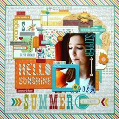 Layout created by Lisa Swift using our I Heart Summer collection
