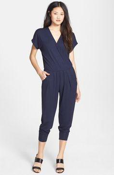 LOVEAPPELLA+Short+Sleeve+Wrap+Top+Jumpsuit+(Regular+&+Petite)+available+at+#Nordstrom