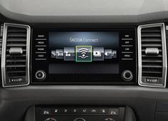 Skoda connect infotainment system in Kodiaq knows all the cutting-edge connectivity tricks.