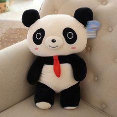 3D animal panda plush toys for girls or kids cartoon plush doll